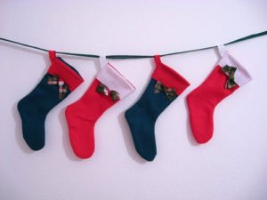 stockings hung on wall