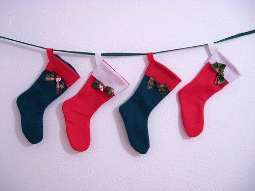 stockings hung on wall